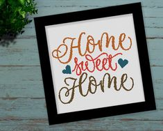 Home Sweet Home Colorful Quote Cross Stitch Pattern Cross Stitch Sea, Cross Stitch Quotes, Cross Stitch Kitchen, Simple Cross Stitch, Cross Stitch Charts, Cross Stitching, Cross Stitch Embroidery, Embroidery Patterns, Easy Cross Stitch Patterns
