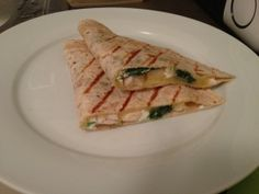 Clean chicken, Spinach & Goat Cheese Quesadillas