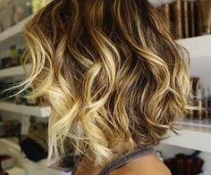 My hair once looked just like this.. And now it's not :( Love the dark root and very light blonde highlights.
