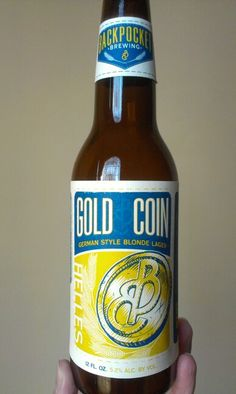 Gold Coin German style lager by Back Pocket Brewing out of Coralville, IA. I love it!!