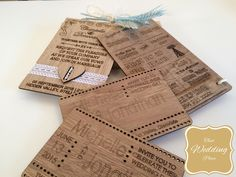 Wedding Wooden Invites - Available From That Wedding Place