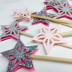 A personal favorite from my Etsy shop https://www.etsy.com/listing/276189674/star-3d-shape-party-picks-set-of-6