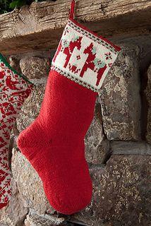 Dalahast Stocking by Amanda Scheuzger. Interweave Knits Holiday Gifts 2012