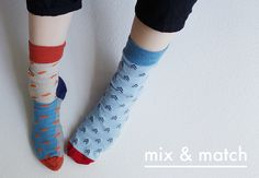 Mix and Match Fun Socks by Odd Pears. Shop Now: http://www.oddpears.com/shop/