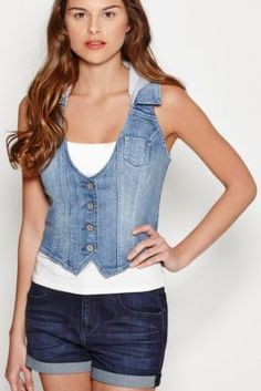 Cora Hooded Vest | GbyGuess.com