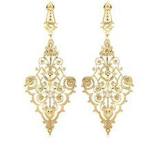 IAM by Ileana Makri Chantilly Pendant Earrings ($485) ❤ liked on Polyvore