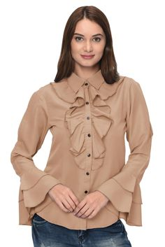 Shirt Patterns For Women, Western Wear For Women, Travel Clothes Women, Formal Shirts, Online Clothing Stores, Selling Online, 1 Piece, Bell Sleeves, India