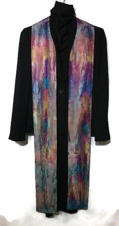 Clergy Stole Batik Stole Purple Stole by PastorJoyCreations