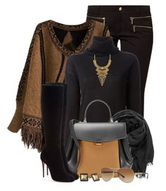 """""""Batwing Sleeve Sweater & Tall Boots"""" by brendariley-1 ❤ liked on Polyvore featuring MICHAEL Michael Kors, P.A.R.O.S.H., maurices, Nina Ricci, Christian Louboutin, Kenneth Cole and Burberry"""