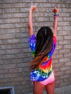tie dye; ♥