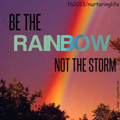 BE THE RAINBOW NOT THE STORM.