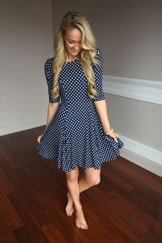 Swing My Way Polka Dot Dress – The Pulse Boutique