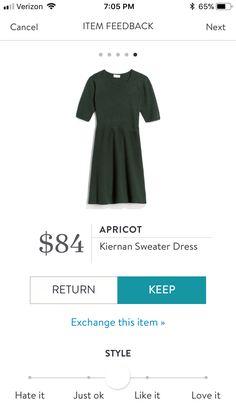 Stitch Fix Apricot Kiernan Sweater Dress