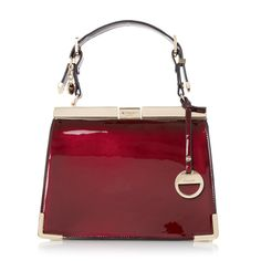 DUNE ACCESSORIES DINIDANNI - Mini Metallic Structured Frame Bag - berry | Dune Shoes Online