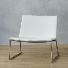 triumph chalk lounge chair | CB2
