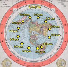 Flat Earth timezones
