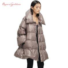 671eb5f9868 Down Coats For Women · Original design women 90 white duck down changing  shape A-shaped collar in the long