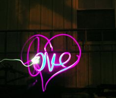 love light by matanext on DeviantArt Light Painting Photography, Art Photography, Mood Light, Light Up, Cool Pictures, Cool Photos, Graffiti Pictures, Light Project, Love And Light