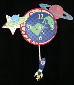 Clock Pendelum Outer Space by 1MakingFaces on Etsy, $50.00