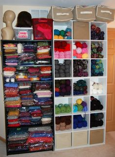 WOW! GREAT CROCHET Organization! For yarn and Items Listed on Etsy for sale! I can do this in the one spare bedroom I using for my crochet 'stuff'