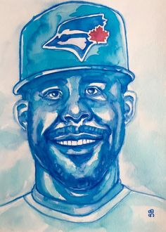 Blue Jays Pitcher David Price (Painting), in by Suzanne Berton Blue Jays Pitcher David Price uses ink on watercolor paper Baseball Canadian Team David Price, Conceptual Art, Watercolor Paper, Original Art, Ink, Baseball, Artist, Artwork, Prints