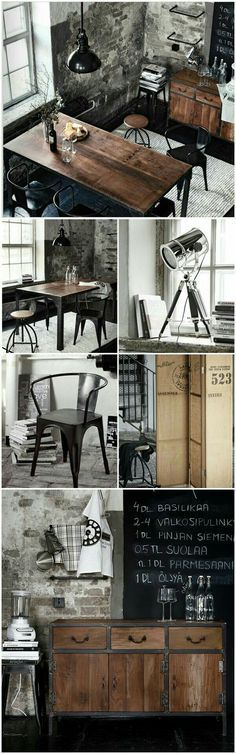 Industrial Style Office Inspired by a Toolbox is part of Industrial house - wood Decoration Vintage Home Decor Industrial Style Office Inspired by a Toolbox Industrial Interior Design, Vintage Industrial Furniture, Industrial Living, Industrial Interiors, Home Interior Design, Interior Styling, Industrial Storage, Kitchen Industrial, Industrial Style Bedroom