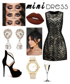 """""""Untitled #39"""" by manueladesigns ❤ liked on Polyvore featuring Roberto Cavalli, Christian Louboutin, Lime Crime, Dolce&Gabbana, Chico's and Riedel"""