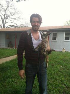 What's better than Jonathan Scott? Jonathan Scott with a goat