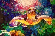 Bottle cap art: Artist, mom creates beauty from trash Rea