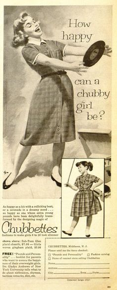 How Happy Can A Chubby Girl Be?  Vintage Chubettes Ad
