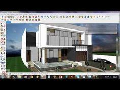 Exterior render tutorial 69 Ideas for 2019 Best Exterior Paint, Exterior Siding, Exterior Remodel, Exterior House Colors, Exterior Design, 3d Architectural Rendering, Exterior Rendering, Sketch Up Architecture, Architecture Models
