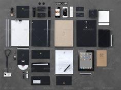 Stationery / Branding Mock-Up (+60 Objects)
