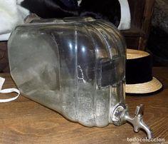 dispensador de perfume, colonia, antigua tienda, principios siglo xx, muy raro, cristal soplado - Foto 1