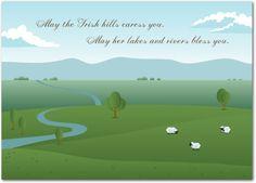 Irish Hills - St Patricks Day Cards in Emerald | Magnolia Press