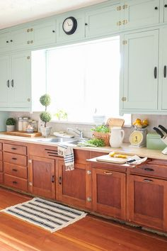 This is such a great kitchen redo that leaves the character in tact. Just painted the uppers!