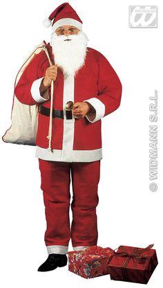 Disfraz de Papa Noel Economico Incluye: Gorro, chaqueta, pantalon, cinto y barba con bigote Disfraces baratos para Navidad   Composición: Tejido de afieltrado http://www.disfracessimon.com/disfraces-complementos-navidad/33-disfraz-de-papa-noel-economico.html