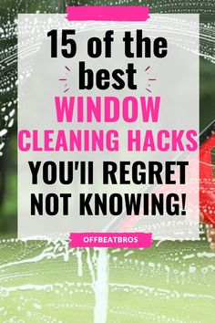 Window Cleaning Tips, Cleaning Fun, Deep Cleaning Tips, Household Cleaning Tips, Cleaning Recipes, Green Cleaning, House Cleaning Tips, Diy Cleaning Products, Cleaning Solutions
