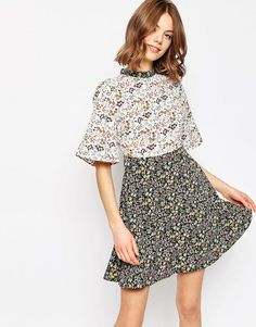 Pin for Later: Malia Obama's Favorite Spot to Buy a Summer Dress Is About to Be Yours Too  ASOS Ditsy Floral Printed Skater Dress ($46)