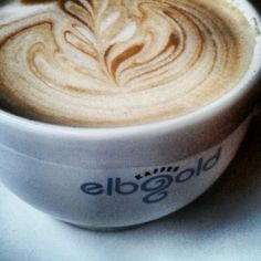 Cappuccino Cafe Elbgold; Schanze, Hamburg, Germany #elbgold