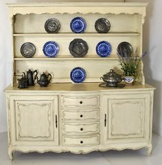 My dream piece!      Antique Country French Painted Vaisselier | Antique Vaisseliers | Inessa Stewart's Antiques