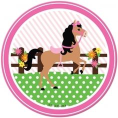 Playful Pony Dessert Plates (8)  for a Sheriff Callie's Wild West Party