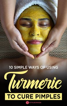 10 Simple Ways Of Using Turmeric for Acne #skin #care #skincare #Beauty #tips