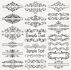 Set of Hand Drawn Black Doodle Design Elements. Set of Hand Drawn Black Doodle Design Elements. Clip Art Vintage, Vintage Drawing, Doodle Designs, Tattoo Designs, Henna Designs, Boarder Designs, Page Decoration, Text Frame, Cute Doodles
