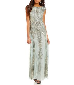 Shop for Pisarro Nights Bateua Neck Cap Sleeve Beaded Gown at Dillards.com. Visit Dillards.com to find clothing, accessories, shoes, cosmetics & more. The Style of Your Life.