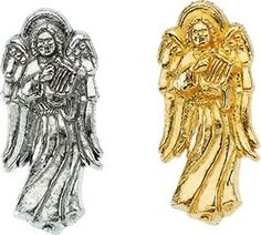 Amazon.com: 14K Yellow or White Gold Angel Lapel Pin 14mm x 6mm (White Gold): Jewelry