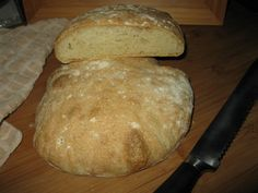 Ciabatta Bread Recipe - Mine didn't rise as much as the picture.  The flavor, texture and crunchy crust were great!
