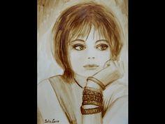 🎨 Как нарисовать кофейный портрет / How to draw a portrait of coffee - YouTube