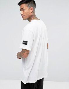 a central de la Adicto Camiseta blanca costura noche B7zwZI