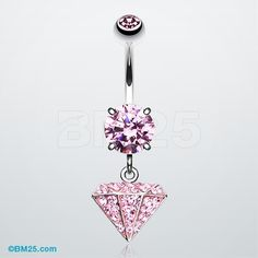 Urban Diamond Tiffany Dangle Belly Button Ring