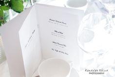 Wedding breakfast menu at The Bingham Hotel